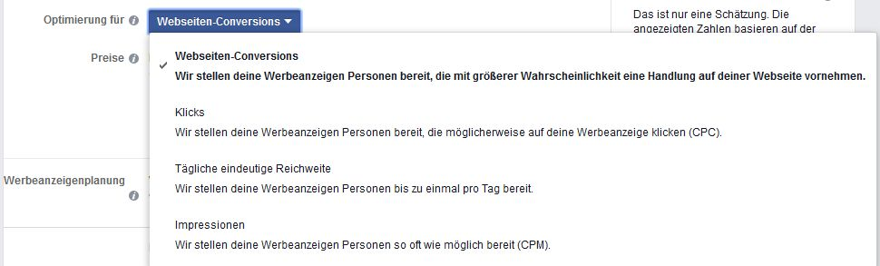 Webseiten Covnersions Optimimierung